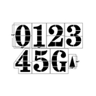 "NCAA Football Field Stencil Kit, 72"" High, 1/8"" Thick"