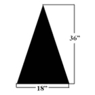 "Football Field Directional Arrow Stencil, 36"" High, 1/8"" Thick"