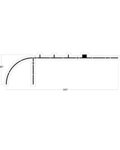 "Basketball Court Key Stencil, 80"" High, 1/8"" Thick"