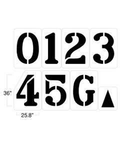 "Football Field Stencil Kit, 36"" High, 1/16"" Thick"