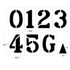 "Football Field Stencil Kit, 72"" High, 1/16"" Thick"