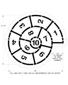 "Snail Hopscotch Playground Stencil, 74-1/2"" High, 1/8"" Thick"