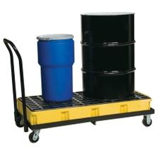 2-Drum Yellow Modular Spill Platform w/Cart