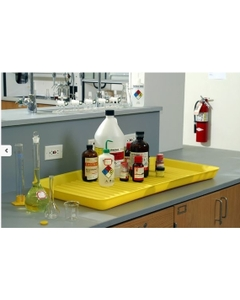 Yellow Spill Containment Utility Lab Tray