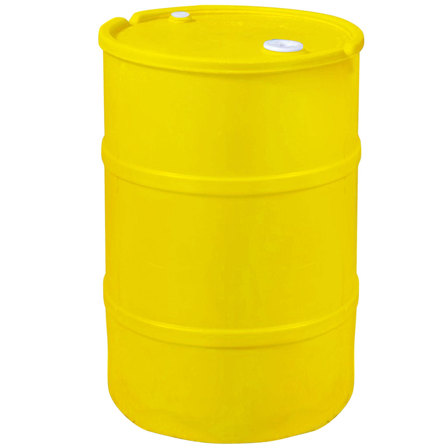 Gallon yellow plastic tight head drum the cary company