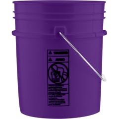 5 Gallon Purple Plastic Pail (90 mil) with Metal Handle (P5 Series)