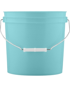 2 Gallon Aqua Blue Plastic Pail with Metal Handle (P5 Series)