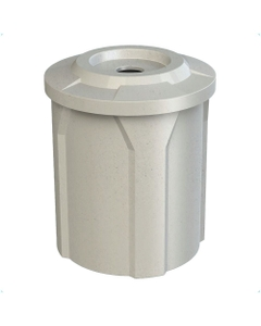 """42 Gallon Light Granite Recycling Receptacle, Flat Top 4"""" Opening"""