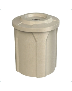 """42 Gallon Beige Granite Recycling Receptacle, Flat Top 4"""" Opening"""