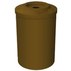 """55 Gallon Brown Recycling Receptacle, Flat Top 4"""" Opening"""
