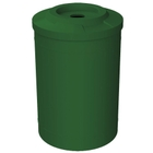 """55 Gallon Green Recycling Receptacle, Flat Top 4"""" Opening"""