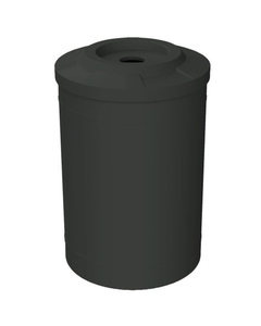 """55 Gallon Black Recycling Receptacle, Flat Top 4"""" Opening"""