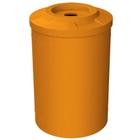 55 Gallon Orange Recycling Receptacle, Flat Top 4