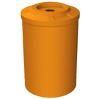 """55 Gallon Orange Recycling Receptacle, Flat Top 4"""" Opening"""