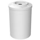 """55 Gallon White Recycling Receptacle, Flat Top 4"""" Opening"""
