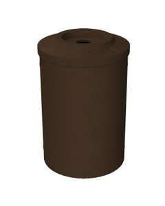 """55 Gallon Brown Granite Recycling Receptacle, Flat Top 4"""" Opening"""