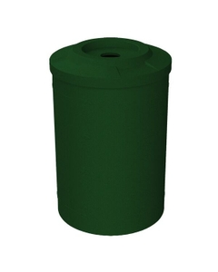 """55 Gallon Green Granite Recycling Receptacle, Flat Top 4"""" Opening"""