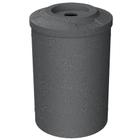 "55 Gallon Dark Granite Recycling Receptacle, Flat Top 4"" Opening"