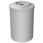 """55 Gallon Light Granite Recycling Receptacle, Flat Top 4"""" Opening"""