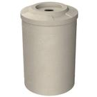 55 Gallon Beige Granite Recycling Receptacle, Flat Top 4