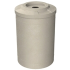 """55 Gallon Beige Granite Recycling Receptacle, Flat Top 4"""" Opening"""