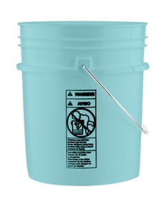 5 Gallon Aqua Blue Plastic Pail (90 mil) with Metal Handle (P5 Series)