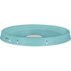5 Gallon Aqua Blue Tear Strip Plastic Pail Lid w/Rieke Flexspout® (P5 Series)