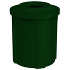 "42 Gallon Green Granite Trash Receptacle, Flat Top 11.5"" Opening"