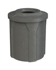 """42 Gallon Dark Granite Trash Receptacle, Flat Top 11.5"""" Opening"""