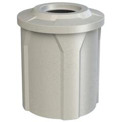 "42 Gallon Light Granite Trash Receptacle, Flat Top 11.5"" Opening"