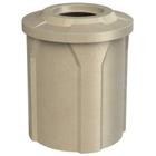 "42 Gallon Beige Granite Trash Receptacle, Flat Top 11.5"" Opening"