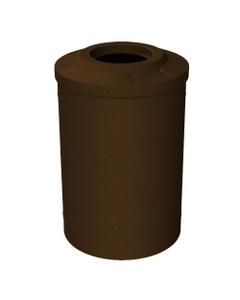 """55 Gallon Brown Granite Trash Receptacle, Flat Top 11.5"""" Opening"""