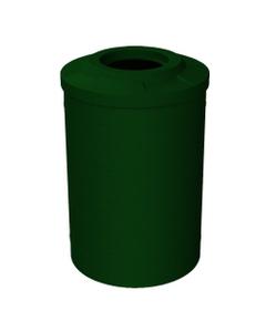 "55 Gallon Green Granite Trash Receptacle, Flat Top 11.5"" Opening"