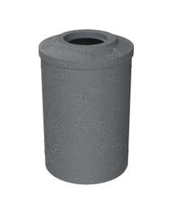 """55 Gallon Dark Granite Trash Receptacle, Flat Top 11.5"""" Opening"""