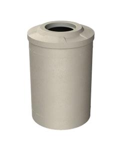 "55 Gallon Beige Granite Trash Receptacle, Flat Top 11.5"" Opening"