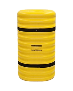 """10"""" Column Protector, 42"""" High, Yellow with Black Straps"""