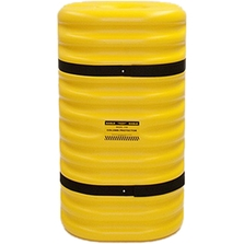 """12"""" Diameter Column Protector, 42"""" High, Yellow with Black Straps"""