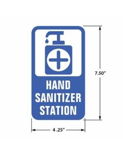 Hand Sanitizer Station Decal