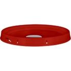 5 Gallon Deep Red Tear Strip Plastic Pail Lid w/Rieke Flexspout® (P5 Series)