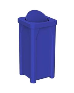 22 Gallon Blue Square Trash Receptacle, Bug Barrier Lid