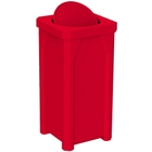 22 Gallon Red Square Trash Receptacle, Bug Barrier Lid