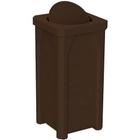 22 Gallon Brown Granite Square Trash Receptacle, Bug Barrier Lid