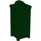 22 Gallon Green Granite Square Trash Receptacle, Bug Barrier Lid
