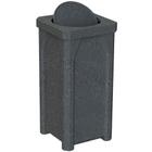 22 Gallon Dark Granite Square Trash Receptacle, Bug Barrier Lid