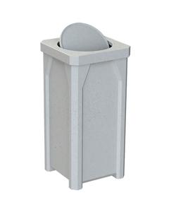 22 Gallon Light Granite Square Trash Receptacle, Bug Barrier Lid