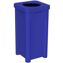 22 Gallon Blue Square Trash Receptacle, 11.5