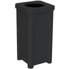 22 Gallon Black Square Trash Receptacle, 11.5