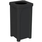 "22 Gallon Black Square Trash Receptacle, 11.5"" Opening"