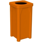 22 Gallon Orange Square Trash Receptacle, 11.5