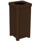 22 Gallon Brown Granite Square Trash Receptacle, 11.5
